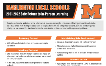 Marlington Local Schools Safe Return to In-Person Learning
