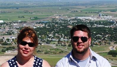 Logan and me with Scottsbluff, Nebraska behind us.