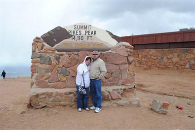 Pike's Peak with my husband.