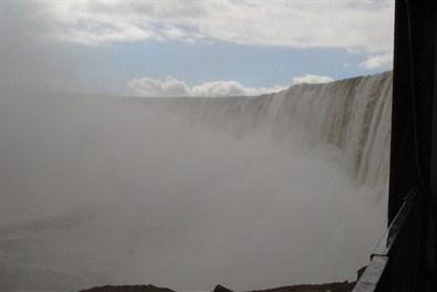 Close Up Views of the Horseshoe Falls at Niagara Falls, Canada.  Journey Behind the Falls