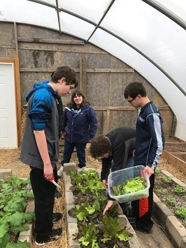 kids at garden