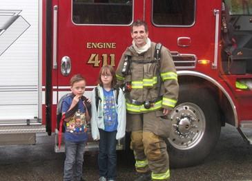 Marlboro volunteer fire department visit to Marlboro Elementary