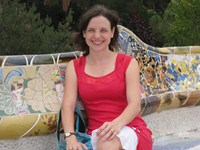 Mrs. McAlister in Guell Park, Barcelona, Spain