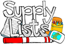 Washington School Supply List